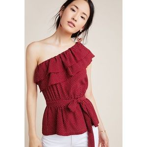 NEW Maeve One Shoulder Ruffle Blouse